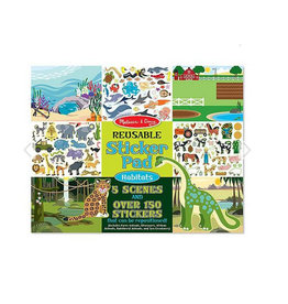 melissa and doug reusable sticker pad - habitats