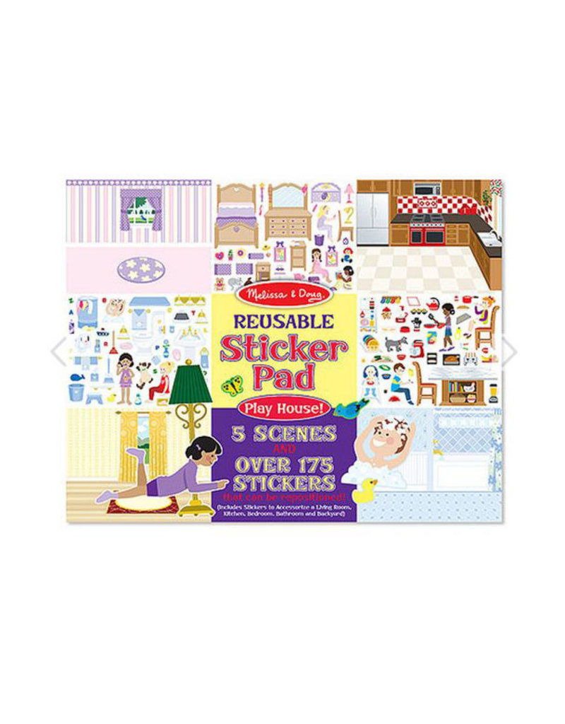melissa and doug reusable sticker pad - play house!