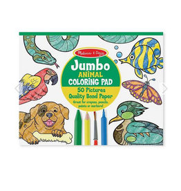 melissa and doug jumbo coloring pad - animals