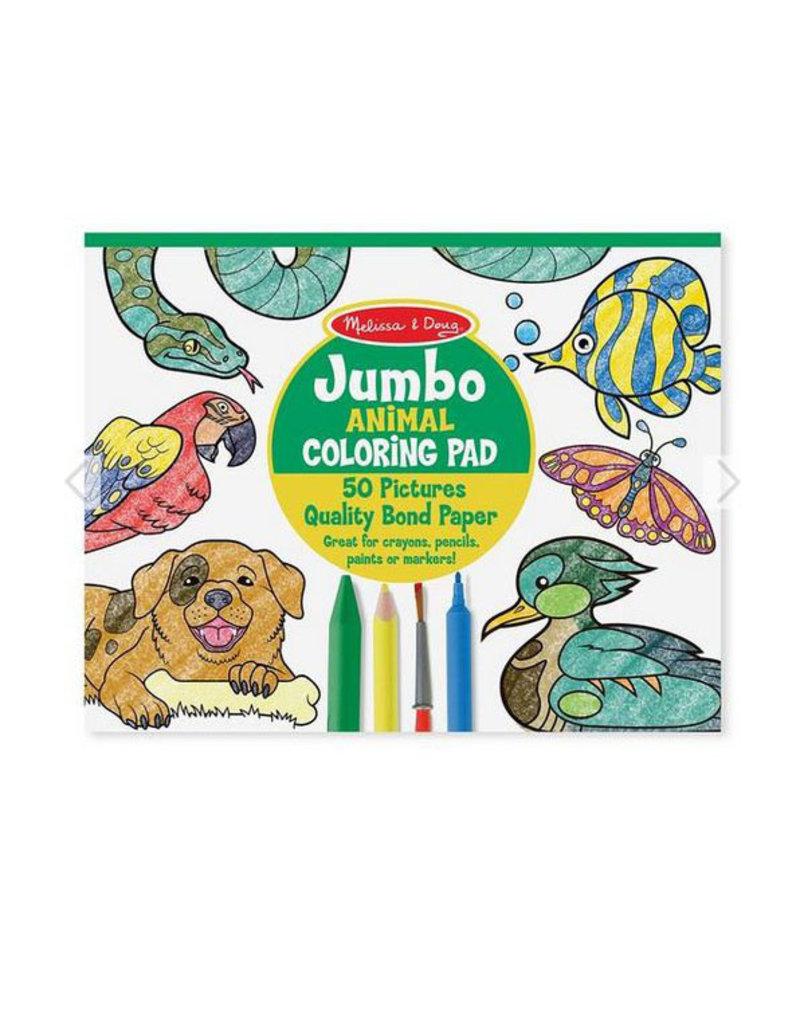 melissa and doug jumbo coloring pad - animals