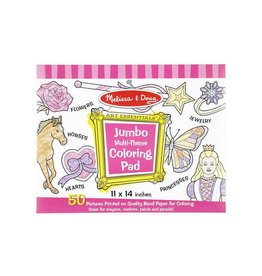 melissa and doug jumbo coloring pad - pink