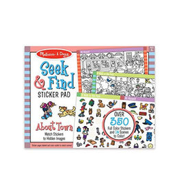 melissa and doug seek & find sticker pad - around town