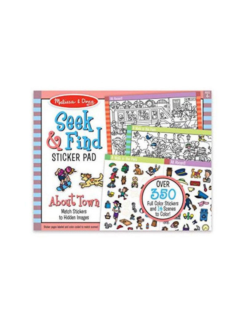 melissa and doug seek & find sticker pad - around town