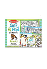 melissa and doug seek & find sticker pad - animal
