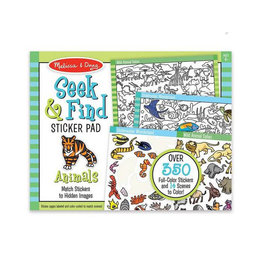melissa and doug seek & find sticker pad - animal