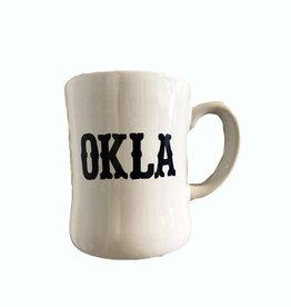 LivyLu white OKLA diner mug