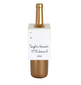 chez gagne tonight's forecase wine tag FINAL SALE