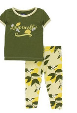 kickee pants lime blossom lemon tree short sleeve pajama set