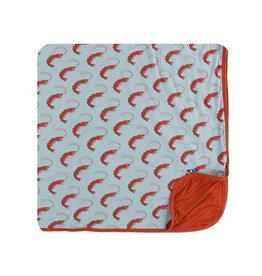 kickee pants jade shrimp toddler blanket