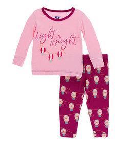 kickee pants dragonfruit lantern festival long sleeve pajama set