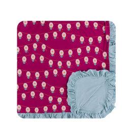 kickee pants dragonfruit lantern festival ruffle toddler blanket