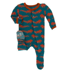 kickee pants oasis octopus footie with zipper