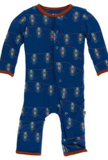 kickee pants navy lantern festival coverall with snaps
