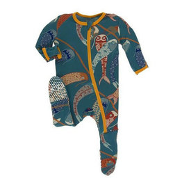 kickee pants oasis koinobori footie with zipper