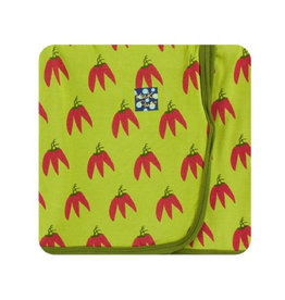 kickee pants meadow chili peppers swaddling blanket