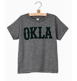 kids OKLA western stamp tee (green)