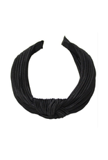 pleated silk headband with knot