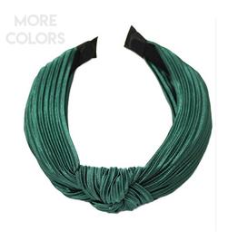 pleated silk headband with knot