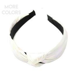 iridescent headband with knot