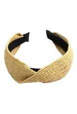 rattan woven headband with twist detail