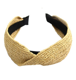 rattan woven headband with twist detail