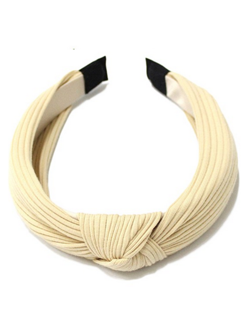 ribbed headband with knot