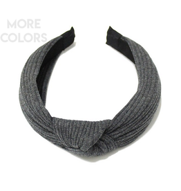 ribbed headband with knot