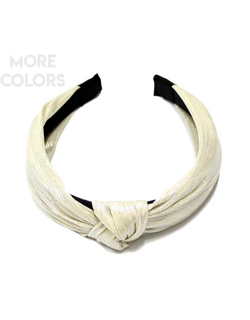 metallic headband with knot