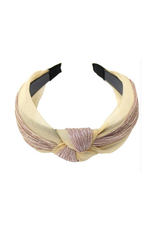 mesh and lurex headband with knot detail