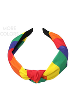 multi color headband with knot