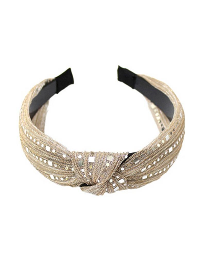 lurex headband with knot detail