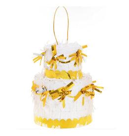 slant wedding cake pinata