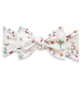 Baby Bling printed knot - alpaca party