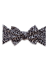 Baby Bling alphabet soup printed knot
