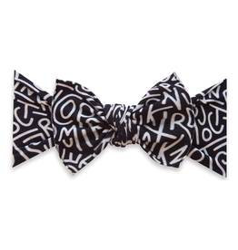 Baby Bling printed knot - alphabet soup