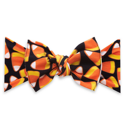 Baby Bling printed knot - candy corn