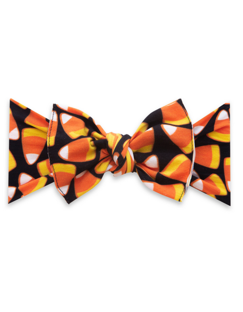 Baby Bling candy corn printed knot