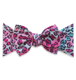 Baby Bling printed knot - cheetah girl