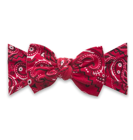 Baby Bling printed knot - cherry bandana