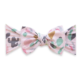 Baby Bling printed knot - pink desert
