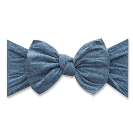 Baby Bling patterned knot - heathered denim