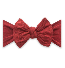 Baby Bling patterned knot - heathered red