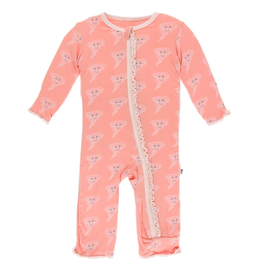 kickee pants blush happy tornado muffin ruffle coverall with zipper