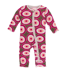 kickee pants falcon agate slices muffin ruffle coverall with zipper