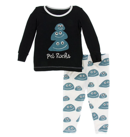 kickee pants midnight pet rocks long sleeve pajama set