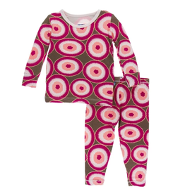 kickee pants falcon agate slices long sleeve pajama set