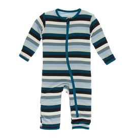 kickee pants meteorology stripe coverall with zipper