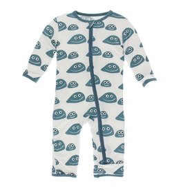 kickee pants natural pet rocks coverall with zipper