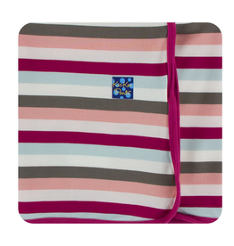 kickee pants geology stripe swaddling blanket