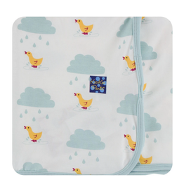 kickee pants natural puddle ducks swaddling blanket